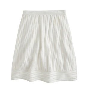 J. Crew Striped white Eyelet skirt